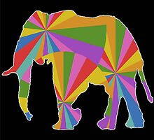 Colorful Elephant by benyuenkk