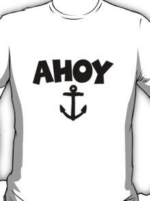 Ahoy Anchor Sailing Design T-Shirt