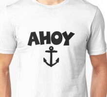 Ahoy Anchor Sailing Design Unisex T-Shirt