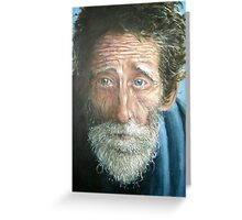 Man with the world in his eyes Greeting Card