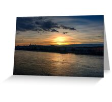 Budapest Sunset Greeting Card
