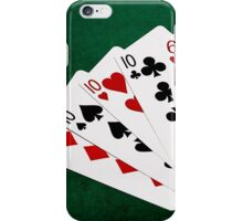 Poker Hands - Four Of A Kind - Tens and Six iPhone Case/Skin