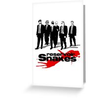Reservoir Snakes Greeting Card