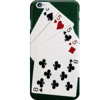 Poker Hands - Four Of A Kind - Fives and Eight iPhone Case/Skin