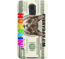 Everyday I'm hustlin' (cat version) Samsung Galaxy Case/Skin