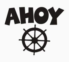 Ahoy Wheel Sailing Design T-Shirt