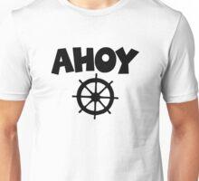 Ahoy Wheel Sailing Design Unisex T-Shirt