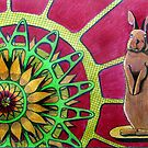 414 - FLOWER-LOVING BUNNY II - DAVE EDWARDS COLOURED PENCILS - 2015 by BLYTHART