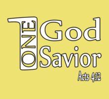 One God. One Savior. Kids Clothes