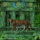 Maya Ruins Jaguar by Walter Colvin