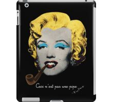 Vampire Marilyn with surreal pipe iPad Case/Skin