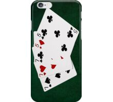 Poker Hands - Full House - Seven and Five iPhone Case/Skin
