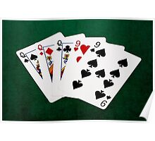 Poker Hands - Full House - Queen and Nine Poster