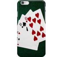 Poker Hands - Full House - Ace and Ten iPhone Case/Skin