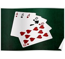 Poker Hands - Full House - Ace and Ten Poster