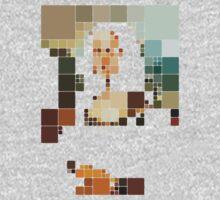 pixelated monalisa Kids Clothes