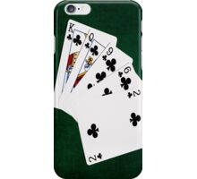 Poker Hands - Flush - Clubs Suit iPhone Case/Skin