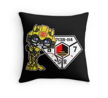 Bumblebee Peeing - Sector 7 v2 Throw Pillow