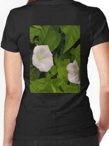 Sea Bindweed, Muckross Head, Donegal Women's Fitted V-Neck T-Shirt