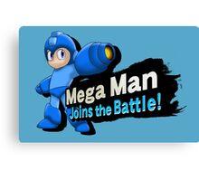 Mega Man - Joins the Battle! Canvas Print