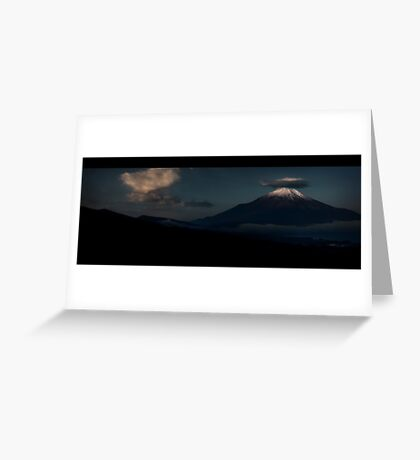 Fuji-san upon waking: Yamanashi, Japan Greeting Card