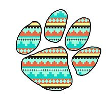 Tribal Paw Print by TheTomlinsons
