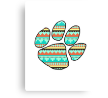 Tribal Ed Sheeran Paw Print Canvas Print