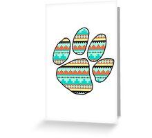 Tribal Ed Sheeran Paw Print Greeting Card