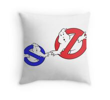 Creation of no-Ghost red blue Throw Pillow