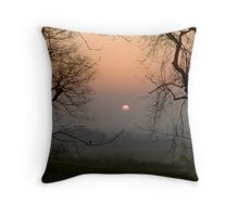 Framing The Sunrise Throw Pillow