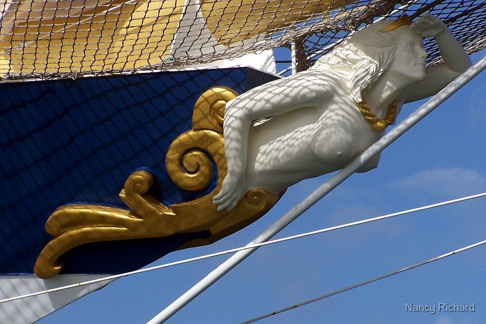 Royal Clipper figurehead  by Nancy Richard