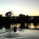 Rowers at dawn by Elaine Li