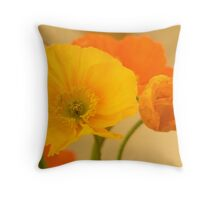 Brightly Coloured Poppies Throw Pillow