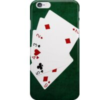 Poker Hands - Straight - Six To Two iPhone Case/Skin
