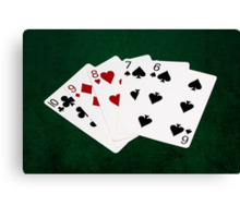 Poker Hands - Straight - Ten To Six Canvas Print