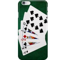Poker Hands - Straight - Ace To Ten iPhone Case/Skin