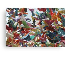 Multi-colored Origami Butterflies Canvas Print