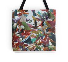 Multi-colored Origami Butterflies Tote Bag