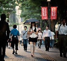 The Girl with the Parasol: Omotesando, Tokyo by Alfie Goodrich