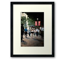The Girl with the Parasol: Omotesando, Tokyo Framed Print