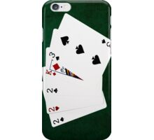 Poker Hands - Three Of A Kind - Two iPhone Case/Skin