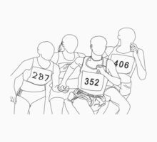 outlined drawing of runners by Ukenny