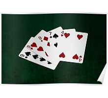Poker Hands - Three Of A Kind - Nine Poster