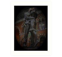 St Pancras Lovers Art Print