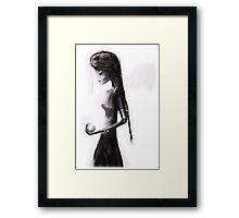 Angel with light Framed Print