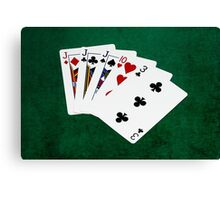 Poker Hands - Three Of A Kind - Jack Canvas Print