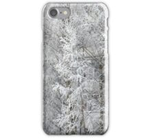 trees covered with hoarfrost iPhone Case/Skin
