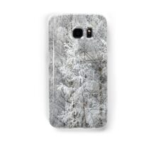 trees covered with hoarfrost Samsung Galaxy Case/Skin