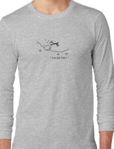 I've Got This Ski Crash Cartoon Long Sleeve T-Shirt