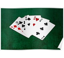 Poker Hands - Two Pair - Ten, Eight Poster